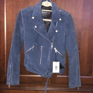 NWT Bagatelle NYC suede moto jacket